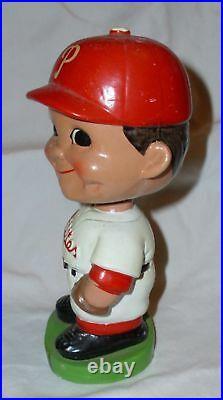 1960's Bobble Head Nodder Philadelphia Phillies Green Base