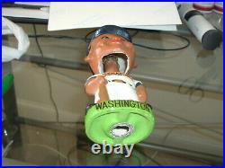 1960's Bobble Head Nodder Washington Senators Black Dark Face Green Base