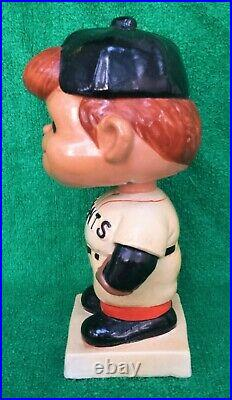 1960's San Francisco Giants Crooked Cap/Hat Bobblehead (White Base) Vintage