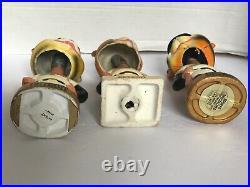1960s DETROIT TIGERS VINTAGE 3 BOBBLE HEADS GOLD & WHITE BASES Fair Condition