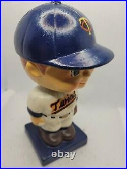 1960s Minnesota Twins vintage blue square base bobblehead nodder figurine Japan