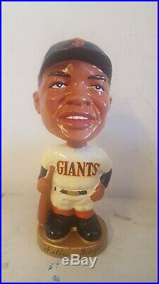 1960s SF Giants Gold base Willie Mays Bobblehead nodder Japan Minty