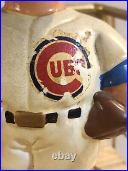 1960s Vintage Chicago Cubs Baseball Bobblehead Gold Base Excellent Japan