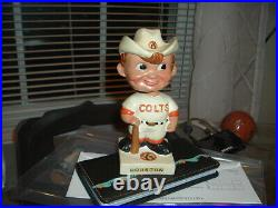 1961 Bobble Head Nodder Houston Colts Square White Base with Hat Decal