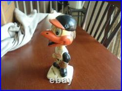 1961 Bobblehead Nodder Baltimore Orioles Mascot White Base 2nd Year TOUGH
