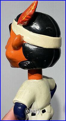 1962 Antique Green Base Cleveland Indians Wahoo Bobble Head Nodder Beautiful NM