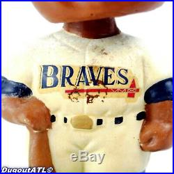 1966 First Atlanta Braves Bobblehead Black Face Green Base Vintage
