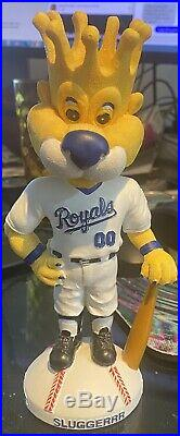 2002 RARE Kansas City Royals Sluggerrr SGA Mascot Bobblehead Baseball 1 of 10000
