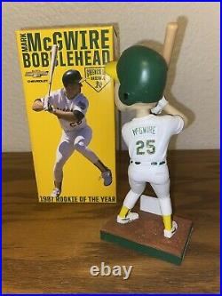 2015 Mark McGwire Bobblehead 1987 ROY Rookie SGA NEW Oakland A's Athletics NIB