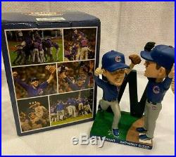 2016 Chicago Cubs Bryant Rizzo FINAL OUT BOBBLEHEAD World Series Champ SGA