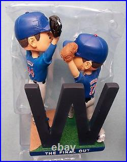 2017 Chicago Cubs Baseball Kris Bryant Anthony Rizzo FINAL OUT BOBBLEHEAD tb