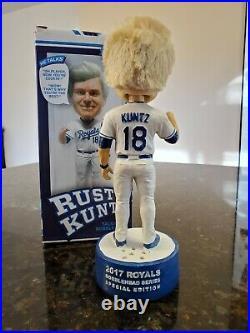2017 Kansas City Royals SGA Rusty Kuntz talking bobblehead Bobble Nodder