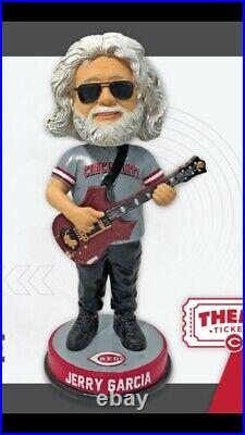 2021 Jerry Garcia Cincinnati Reds Grateful Dead Bobblehead Special Ticket SGA