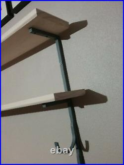 2Bat Baseball Bat Display Rack with 2 Wood Display Shelf / bobblehead shelf