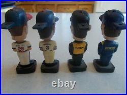 4 Bobble Heads Baseball Racing 3 Post Cereal & 7 Sports Figurines 4 1990's