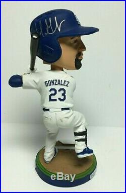 Adrian Gonzalez Signed Los Angeles Dodgers 2013 SGA Baseball Bobblehead PSA
