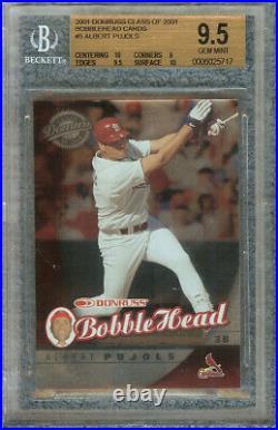 Albert Pujols 2001 Donruss Class Of 2001 Bobblehead Card #5 Bgs 9.5