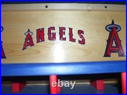 Anaheim Angels Bobble Head Display Case with A logo Handcrafted Pinewood