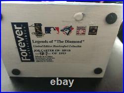Autographed Joe Carter Legends of the Diamond Limited Edition Bobblehead ET
