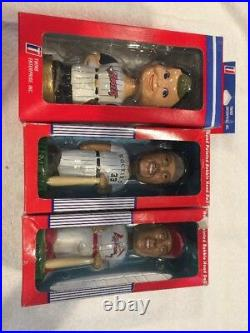 BASEBALL BOBBLE HEADS Set Of 3, Angels Rockies Larry Walker Cardinals Jd Drew