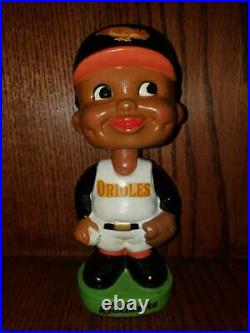 Baltimore Orioles Black Face Vintage Bobblehead/Nodder/Bobbing Head Mint Repaint