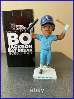 Bo Jackson Bat Break Bobblehead MLB Kansas City Royals NEVER DISPLAYED 2019 SGA