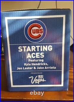 Chicago Cubs Starting Aces Bobblehead Sga 2017 Arreta, Lester 8/17/17 New Box