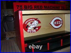 Cincinnati Reds Bobble Head Display Case 75 Big Red Machine 76 Handcrafted