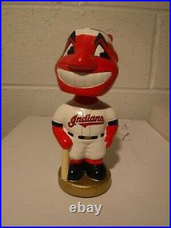 Cleveland Indians Chief Wahoo MLB Bobble Head Doll TEI 2002 COLLECTORS ITEM