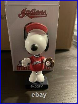 Cleveland Indians Snoopy Peanuts Bobblehead. Special Ticket Bobblehead
