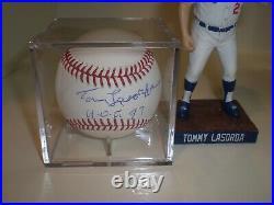 DODGERS Tommy Lasorda Signed MLB Baseball WithHOF 97 JSA COA + 2019 SGA Bobblehead