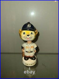 Detroit Tiger Mascot Mini Vintage Bobble Head Nodder NrMint All Original 1962