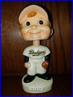Dodger Round White Base Bobble Head/Bobbing Head/Nodder Mint and Restored 1960s