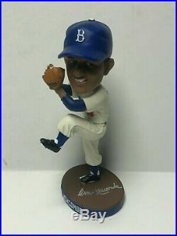Don Newcombe Signed'16 Brooklyn Dodgers SGA Baseball Bobblehead Bobble PSA