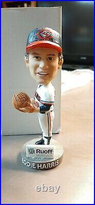 Eddie Harris Major League Cleveland Indians Akron RubberDucks Bobblehead Presale