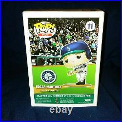 Edgar Martinez Funko Pop! Autographed Baseball and Bobble head. Hall Of Fame