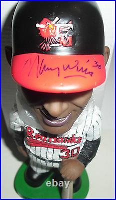 Fargo-Moorhead Redhawks MAURY WILLS SIGNED AUTOGRAPH Bobblehead PSA LA Dodgers