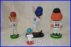 Four Baseball Bobble Heads Rowdy, Derreck Lee, Kevin Mench, and Florida Marlins