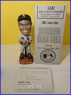 Frank Thomas ULTRA RARE Chicago White Sox SAM Bobblehead MINT NIB withCOA