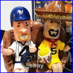 HOT DOG & CHORIZO Milwaukee Brewers 2014 August Bobble of The Month Bobble Head