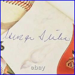 Hall Of Famer George Sisler Autograph1958 Milwaukee Braves Scorecard, Asst Mgr