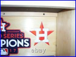 Houston Astros Bobble Head Display Case 2017 World Series with Sliding doors
