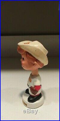 Houston Colts Mini Baseball Nodder White Base Bobbing Head 1962 Astros 1960's