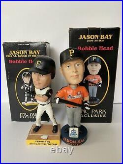 Jason Bay 2004-2005 Bobble Heads Lot Of 2 PNC Park Baseball Collectible Pirates