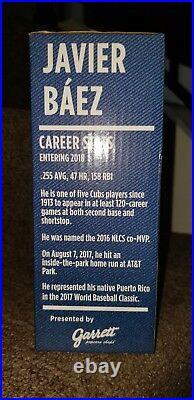 Javier Javy Baez Chicago Cubs Gum Bobblehead Sga 2018 7/23/2018 New Box All Star