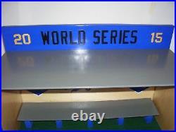 KC Royals Bobble heads display case 2015 World Series with Felt Green Floor