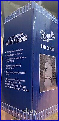 Kansas City Royals Whitey Herzog Bobble head SGA NIB 8-14-21 Game