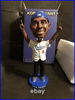 Kobe Bryant Los Angeles Dodgers Lakers World Series Bobblehead HOF MVP Mamba