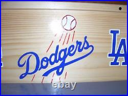 LA Dodgers Bobble Head Display Case with LA & Flying Ball Logos Handcrafted