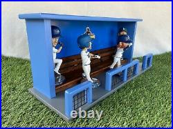 Los Angeles Dodgers Baseball World Series Bobblehead Dugout Display Case Bench